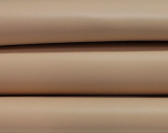 NUDE BEIGE Italian genuine Lambskin Lamb Sheep leather skins hides 0.5mm to 1.2mm
