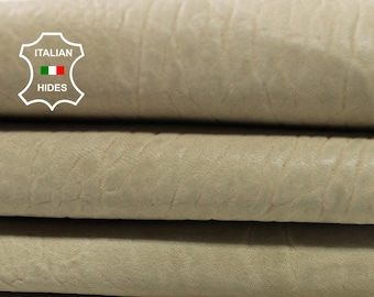 BEIGE natural grainy vintage look vegetable tan thick Italian Lambskin Lamb Sheep leather 7 skins hides total 28sqf 1.5mm #A4390