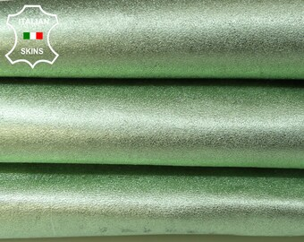 METALLIC LIGHT LIME Green rough economic Italian Goatskin Goat leather skin hide skins hides 5sqf 0.7mm #A5961