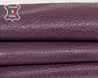 BURGUNDY BUBBLY grainy thick Italian Lambskin Lamb sheep leather skin hide 5sqf 1.4mm #A7673