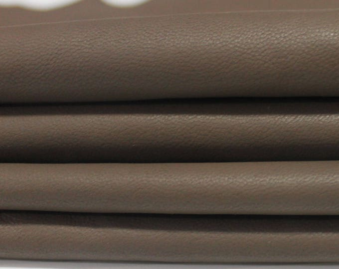 TAUPE BROWN soft Italian genuine lambskin lamb sheep leather skin skins hide hides 7sqf #A2757