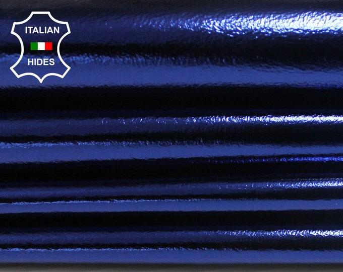 METALLIC BLUE Italian lambskin Lamb Sheep leather skin skins hide hides 7sqf 0.7mm