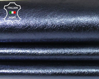 METALLIC OCEAN BLUE soft Italian Lambskin Lamb sheep leather skin hide skins hides 6sqf 0.6mm #A5906