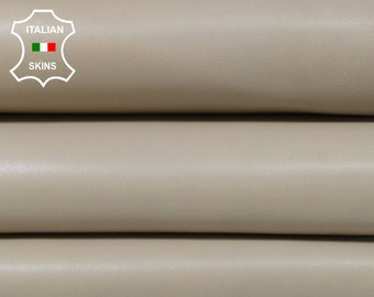 BEIGE thick Italian Lambskin Lamb Sheep leather material for sewing skin hide skins hides 9sqf 1.4mm #A6979