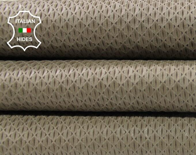 WALNUT BEIGE TEXTURED natural look vegetable tan Italian Lambskin Lamb Sheep leather  skin hide skins hides 3sqf 0.7mm #A4466