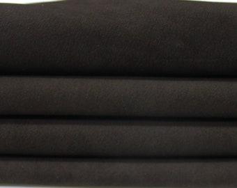 NABUCK BROWN Calf Calfskin soft italian genuine leather skin skins hide hides 0.6mm