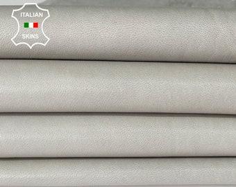 NATURAL LIGHT GREY soft Italian lambskin lamb sheep leather skin skins hide hides 6sqf 0.7mm #A8318