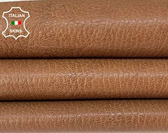 NATURAL CAMEL BROWN rough vegetable tan thick Italian goatskin goat leather skin skins hide hides 6sqf 1.3mm #A8454
