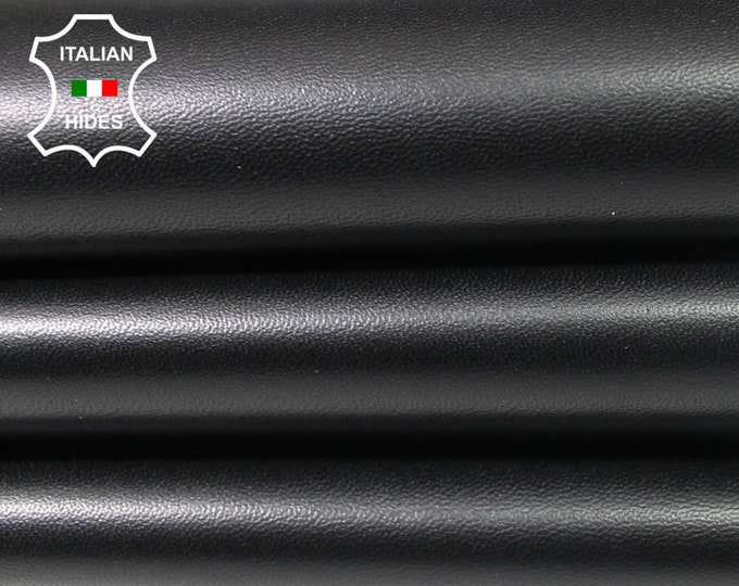BLACK SMOOTH Italian Lambskin Lamb Sheep leather material for sewing skin hide skins hides 4-6sqf 0.9mm #A4689