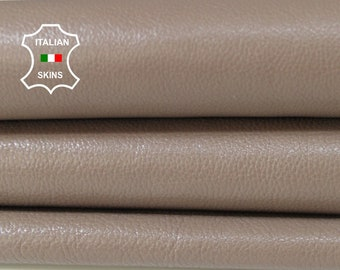 TAUPE BROWN rough thick Italian Calfskin Calf cow cowhide upholstery leather skin hide skins hides 8sqf 1.4mm #A6749