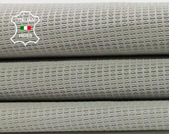 LIGHT GREY textured embossed vegetable tan Italian lambskin lamb sheep leather skin hide skins hides 4+sqf 1.0mm #A4236