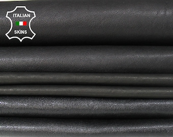 WASHED BLACK vegetable tan pack 3 SHADES Genuine Italian Lambskin Lamb Sheep leather material sewing crafts 3 skins total 18sqf 0.8mm #A6108