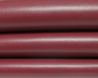 WINE RED BORDEAUX smooth Italian genuine Lambskin Lamb Sheep leather skins hides 0.5mm to 1.2mm