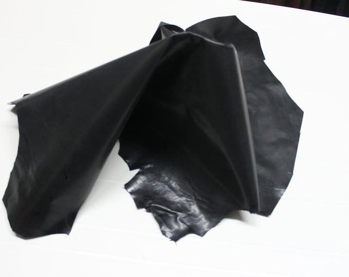 Italian strong Goatskin leather skin skins hide hides VINTAGE ANTHRACITE 5sqf #9589