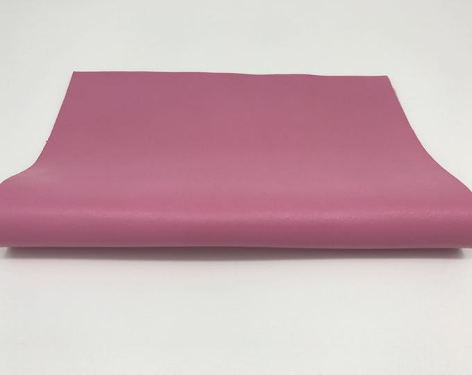 "Pink soft Italian genuine lamb lambskin leather piece 8.27""x11.69"" - 21cmx29.7cm size A4 #CI40"