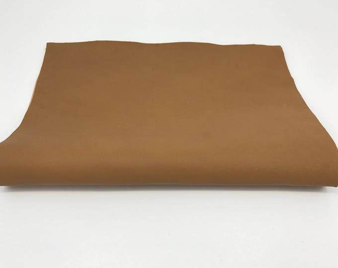 "Butterum Camel dark beige soft Italian genuine lamb lambskin leather piece 8.27""x11.69"" - 21cmx29.7cm size A4 #CI39"
