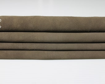 BROWN SUEDE Goatskin Goat Leather 10 skins hides total 40sqf 1.1mm #A5007