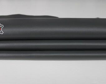 DARK GREY dark taupe grey Italian Lambskin Lamb Sheep leather for crafts bookbinding skin hide skins hides 7sqf 0.8mm #A6695