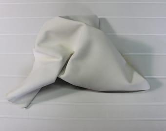 Italian Goatskin leather skin skins hide hides SUEDE OFF WHITE 5+sqf #8909