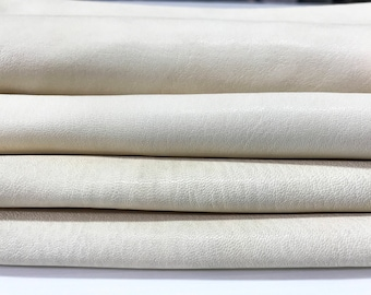 VEGETABLE TANNED 12 skins hides  washed natural vanilla creamy creamer nude Italian goatskin goat thick leather 80-90sqf
