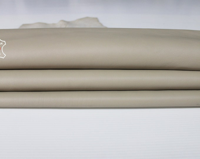 BEIGE Italian Lambskin Lamb sheep leather material for sewing crafts skin hide skins hides 6sqf 0.9mm #A6703