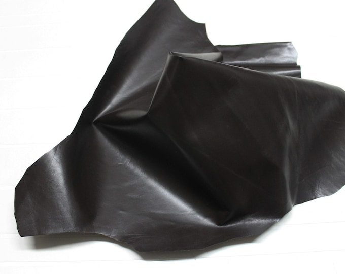 Italian strong Goatskin leather skin skins hide hides DARK BROWN  5sqf #9605