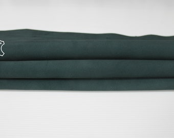 DEEP TEAL SUEDE petrol green soft Italian Calfskin Calf leather material for sewing crafts skin hide skins hides 6sqf 1.1mm #A6716