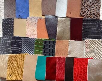 "2""x2"" swatch 5cmx5cm sample cut Italian genuine leather skin skins hide hides FEDEX EXPRESS SHIPPING"