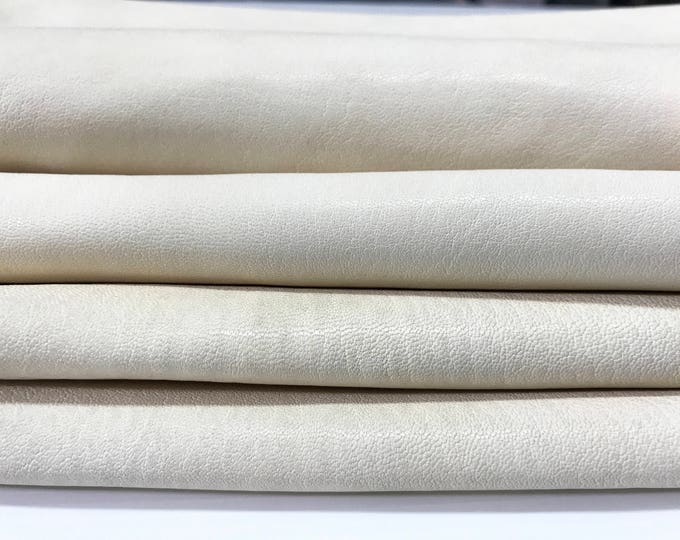 VEGETABLE TANNED WASHED natural vanilla creamy creamer nude Italian goatskin goat leather thick skin skins hide hides #GA5548