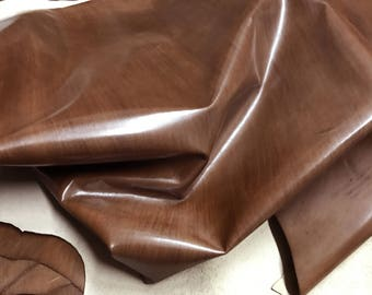 Italian  Upholstery COWHIDE Cowleather car seats handbags bags BROWN DISTRESSED 14+sqf