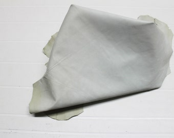 Italian strong Goatskin leather hide hides skin skins SUEDE OFFWHITE  4+sqf  #A433
