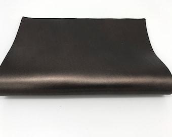 "Italian genuine lamb lambskin sheep leather piece 8.27""x11.69"" - 21cmx29.7cm size A4  METALLIC OLD BRONZE #CI12"