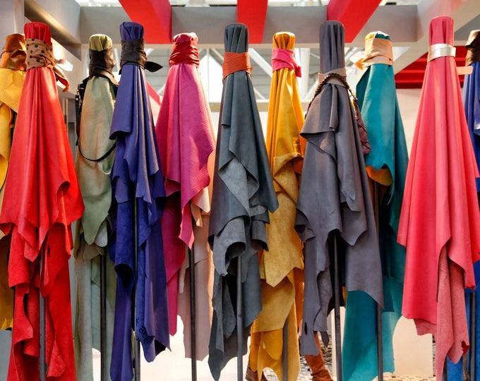 LAMBSKIN CUSTOM COLOR lamb custom dye order Lamb Sheep Italian leather hides skins nappa made to order match leather color