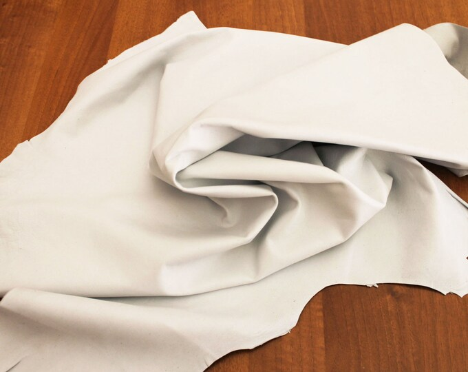 Italian lambskin leather 12 skins hides SNOW WHITE 80-90sqf