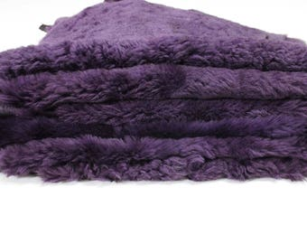 "reserved to ""MARK"" PURPLE sheepskin hair on shearling fur sheep Italian leather skin skins hide hides #M056"