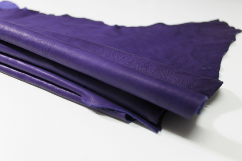 ROYAL PURPLE natural thin soft gloves Italian Calfskin Calf cow leather material for sewing hide skin hide 8sqf 0.5mm #A4727