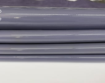 MAUVE LAVENDER PATENT shiny wet look soft Italian calfskin calf cow leather hide hides skin pack 2 skins total 5sqf 1.1mm #A8223
