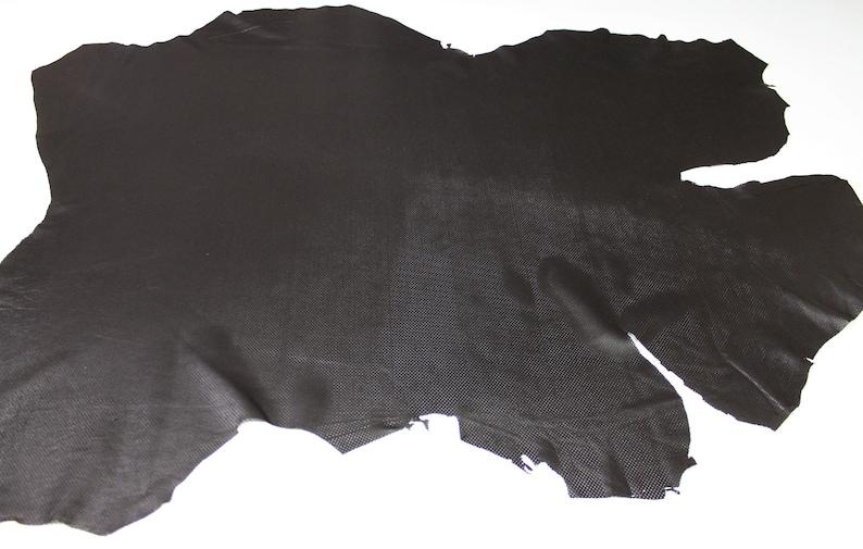 DARK BROWN PINHOLES Perforated soft Italian Lambskin Lamb Sheep Leather skin hide 7sqf 0.5mm #A5037