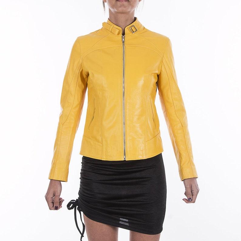 745e5ac39451 Italian handmade Women soft genuine lambskin leather jacket | Etsy
