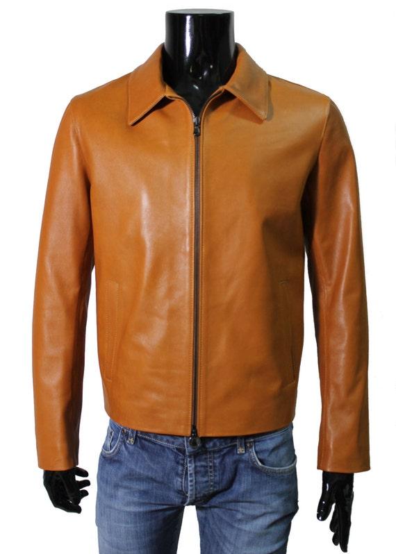 Mens Stylish Lambskin Genuine Leather Jacket 440