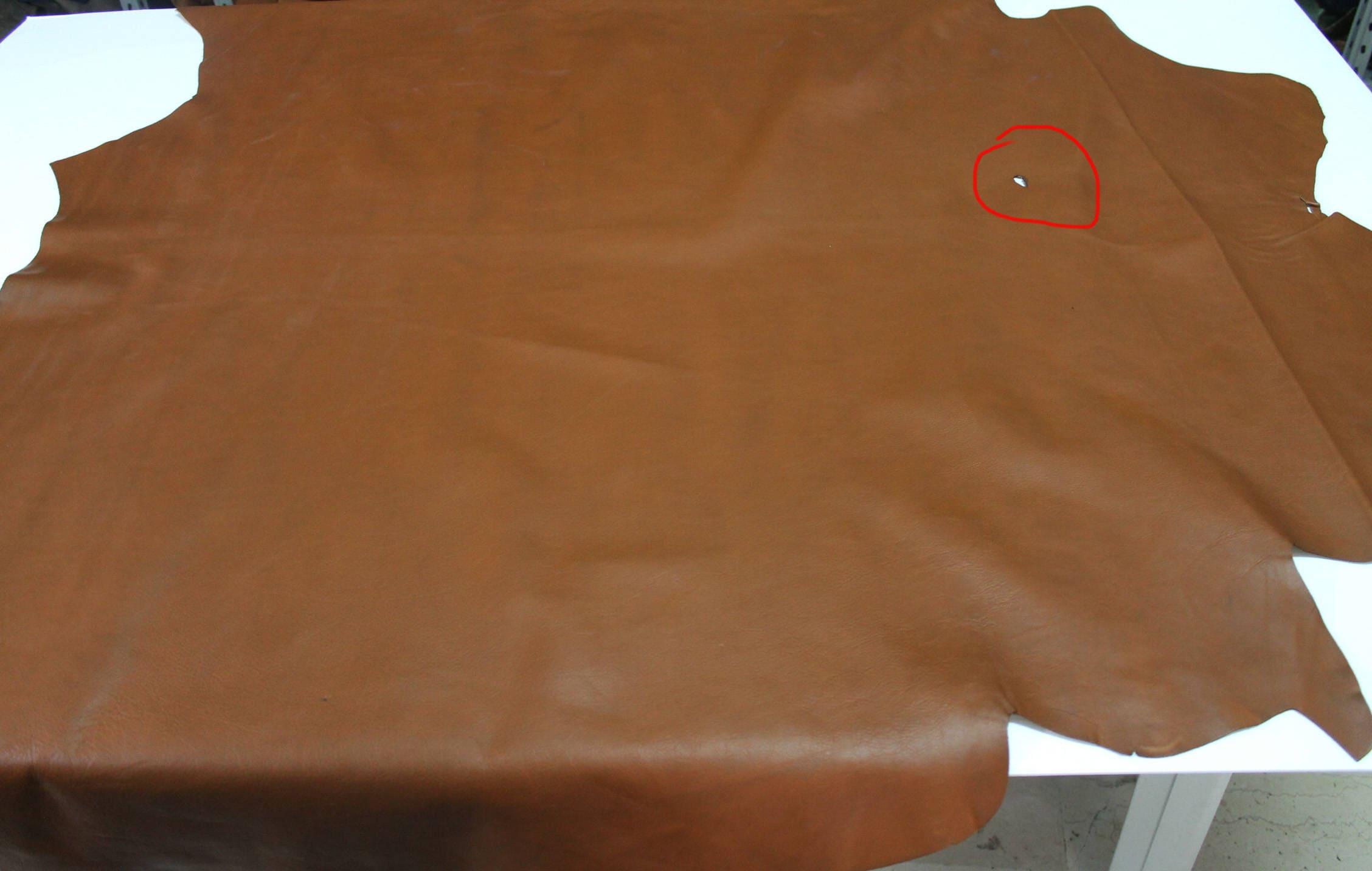 RUST BROWN light brown Calf washed Calfskin Italian genuine leather