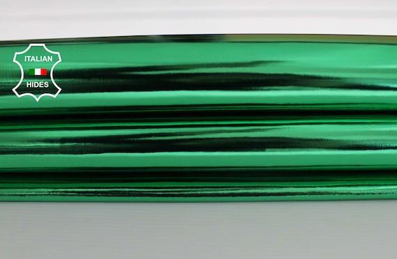 METALLIC EMERALD GREEN GREEN GREEN Italian genuine Lambskin leather hide skin pelt skins hides 6-8sqf 0.6mm | Une Performance Fiable  e78b1c