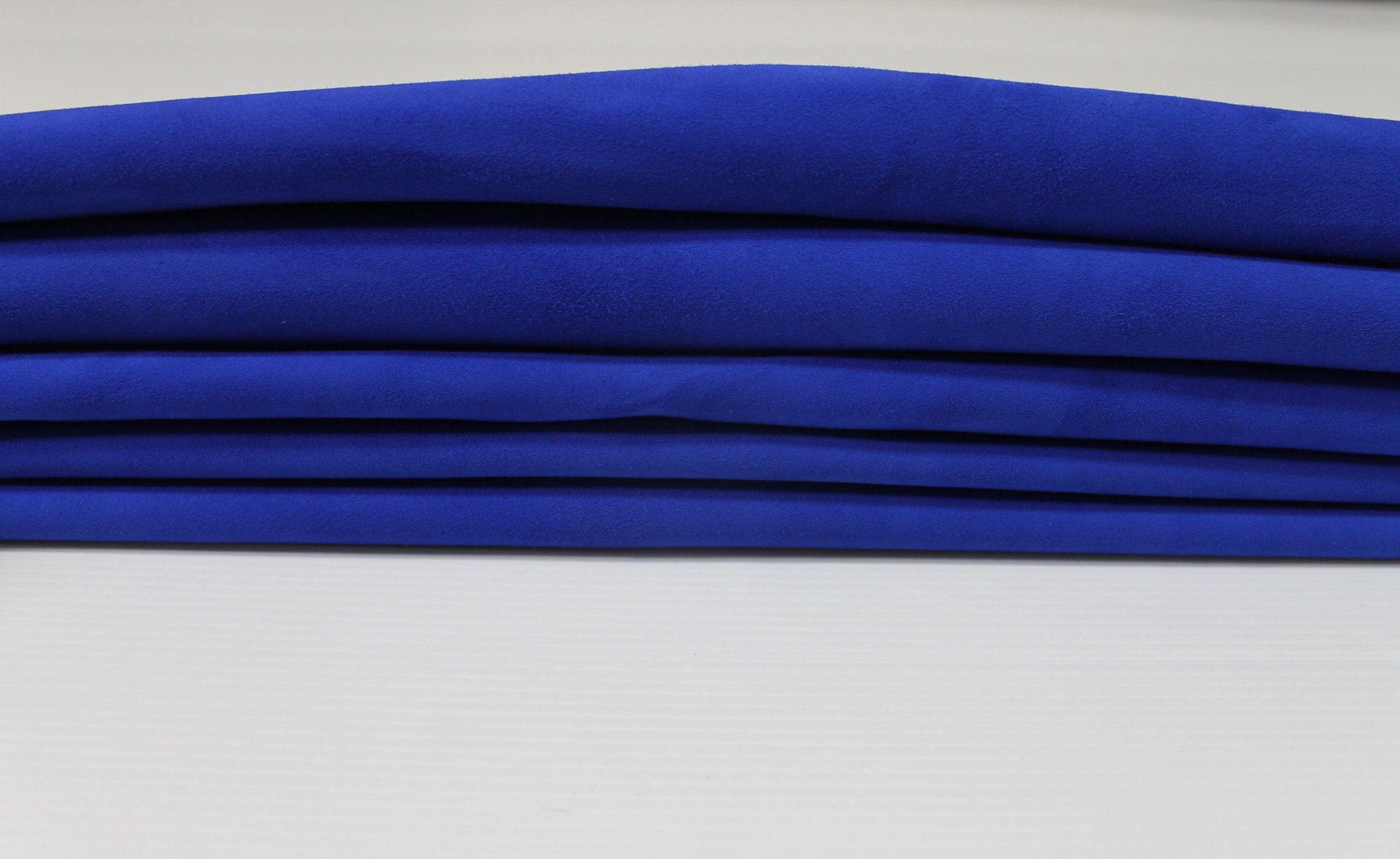b738aef8f413 ROYAL BLUE SUEDE Italian genuine Lambskin Lamb Sheep leather ...