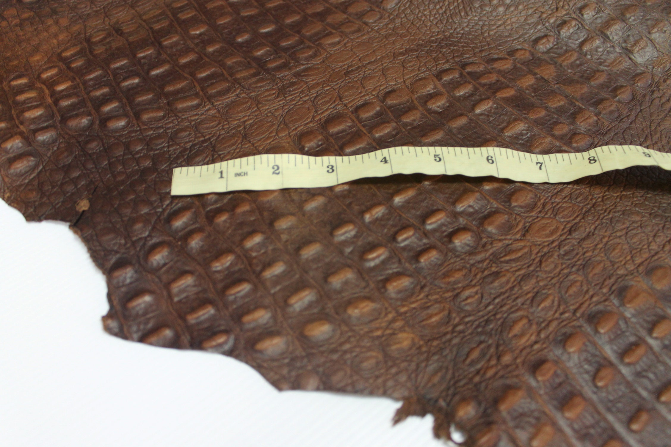 X44 Brown Embossed Leather Lambskins