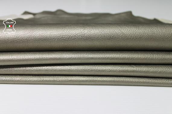 Italian Top quality Lambskin leather hide semi shiny grainy black 6 Sq.Ft