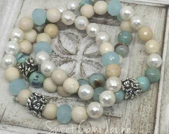 Bracelet Stack, Stretch Bracelet Set, Statement Bracelet, Layering Bracelet, Gifts under 50, Arm Candy, Beachy Bracelet, Gifts for Women