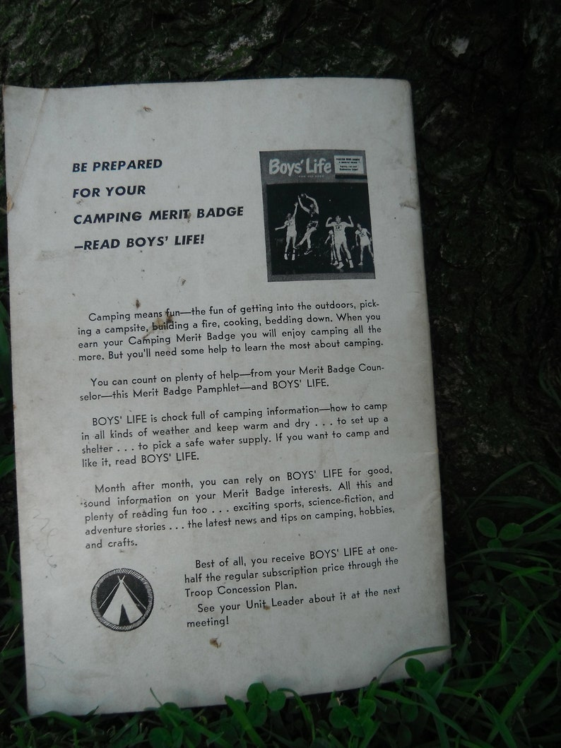 Vintage Boy Scout Paperback - Camping - Merit Badge Series Booklet