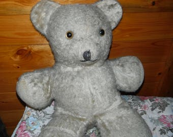 Vintage Pre-Loved Tan Teddy Bear