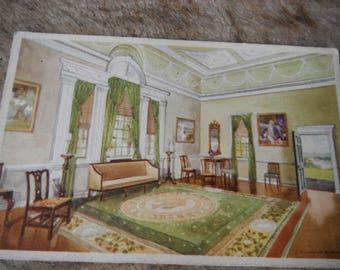 Antique Historical Postcard - The Banquet Hall Mount Vernon - Washington's Home