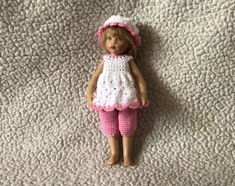 "Dress Set For 7""Riley Kish Doll Crochet"